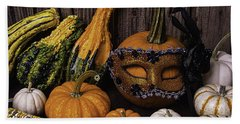 Masked Pumpkin Bath Towel