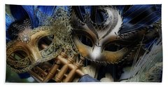 Masked Twins Bath Towel by Amanda Eberly-Kudamik