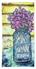 Mason Jar Bouquet Hand Towel