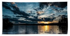 Masscupic Lake Sunset Hand Towel