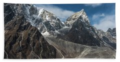 Hand Towel featuring the photograph Massive Tabuche Peak Nepal by Mike Reid