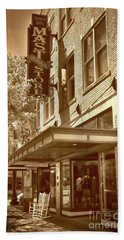 Hand Towel featuring the photograph Mast General Store by Skip Willits
