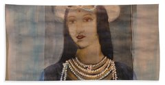 Hand Towel featuring the painting Mastani by Vikram Singh