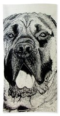 Mastiff Bath Towel by Stan Hamilton