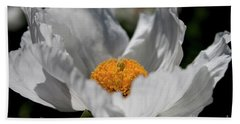Matilija Poppy Hand Towel by Ivete Basso Photography