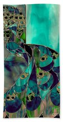 Mating Season Stained Glass Peacock Hand Towel