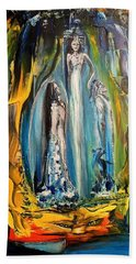 Bath Towel featuring the painting Matrimony  by Kicking Bear  Productions