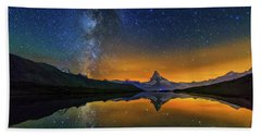 Matterhorn By Night Bath Towel