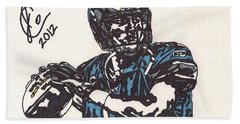 Matthew Stafford Bath Towel by Jeremiah Colley
