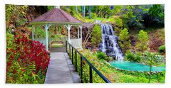 Maui Botanical Garden Hand Towel by Michael Rucker
