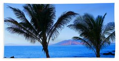 Maui Coastline Hand Towel by Michael Rucker