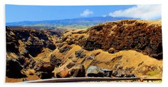 Bath Towel featuring the photograph Maui Manawainui Gulch by Michael Rucker