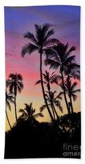 Maui Palm Tree Silhouettes Bath Towel