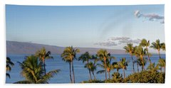 Bath Towel featuring the photograph Maui Palms by Lars Lentz