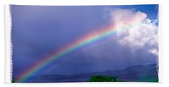 Bath Towel featuring the photograph Maui Rainbow by Marie Hicks