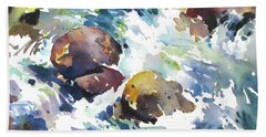 Maui Rapids Hand Towel by Rae Andrews