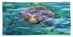 Maui Sea Turtle Bath Towel