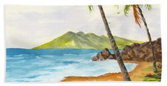 Hand Towel featuring the painting Maui View by Darice Machel McGuire