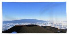Mauna Loa In The Distance Hand Towel