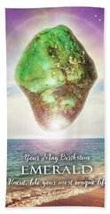 May Birthstone Emerald Bath Towel by Evie Cook