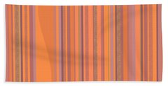 Hand Towel featuring the digital art May Morning Vertical Stripes by Val Arie