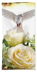 May Peace Be With You Bath Towel by Maria Urso