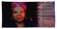 Maya Angelou Bath Towel