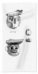 Maya Ceramic Head Hand Towel