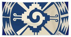 Mayan Hunab Ku Design Bath Towel