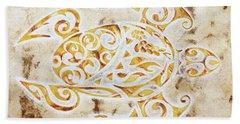 Mayan Turtle Hand Towel by J- J- Espinoza