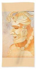 Mayan Warrior Bath Towel