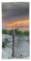 Bath Towel featuring the photograph Mayflower Beach by Mike Ste Marie