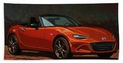Mazda Mx-5 Miata 2015 Painting Bath Towel