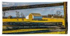 Bath Towel featuring the photograph Mc Pherson Barn - Gettysburg National Park by Nick Zelinsky