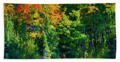Hand Towel featuring the photograph Mccarston's Lake by Gary Hall