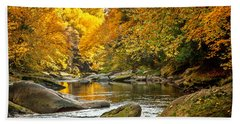 Bath Towel featuring the photograph Mcconnell's Mill State Park by Skip Tribby