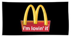 Mc Donalds T-shirt Bath Towel by Herb Strobino