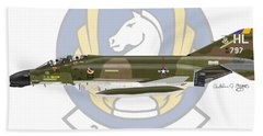 Mcdonnell Douglas F-4d Phantom II Hill Hand Towel by Arthur Eggers