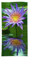 Mckee Water Lily Hand Towel by Larry Nieland
