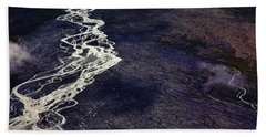 Mckinley River From The Air Bath Towel