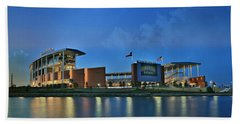 Mclane Stadium -- Baylor University Bath Towel by Stephen Stookey
