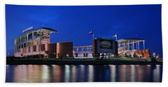 Mclane Stadium Evening Bath Towel by Stephen Stookey