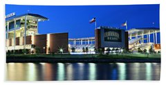 Mclane Stadium Panoramic Bath Towel by Stephen Stookey