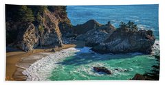 Mcway Falls Julia Pfieffer State Park Hand Towel by James Hammond