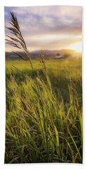 Green Grass Photographs Bath Towels