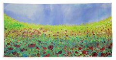 Meadow Of Poppies  Bath Towel