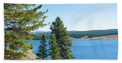 Meadowlark Lake And Trees Hand Towel