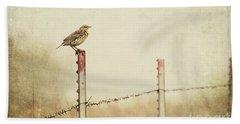 Meadowlark On A Post Hand Towel