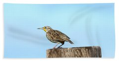 Meadowlark Roost Hand Towel by Mike Dawson