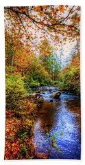 Hand Towel featuring the photograph Meandering In The Mountains by Debra and Dave Vanderlaan